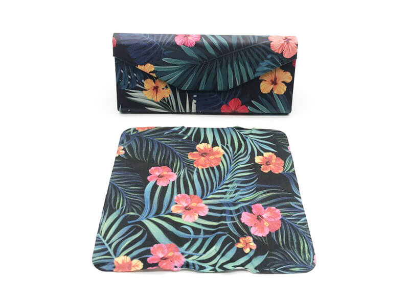 Tropical Flowers Glasses Case